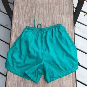 Women's vintage Turquoise GEAR swim trunks ✌️1990s